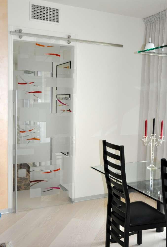 ABSOLUTE vetro trasparente extrachiaro maniglia X61decoro quadria con lingue double (2)-1000