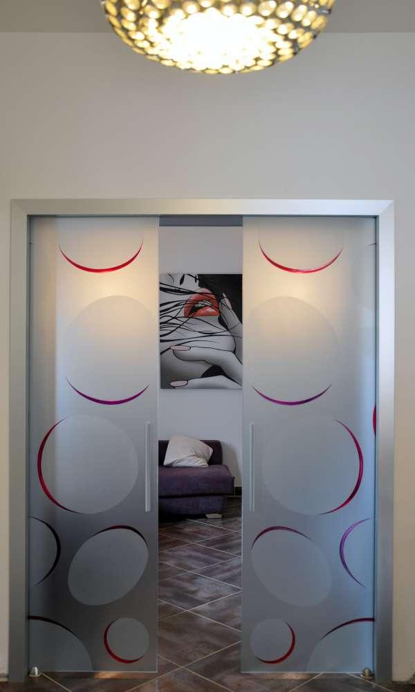 LIGHT alluminio decoro bolle color doppia scorrevole interno muro vetro acidato (11)-1000