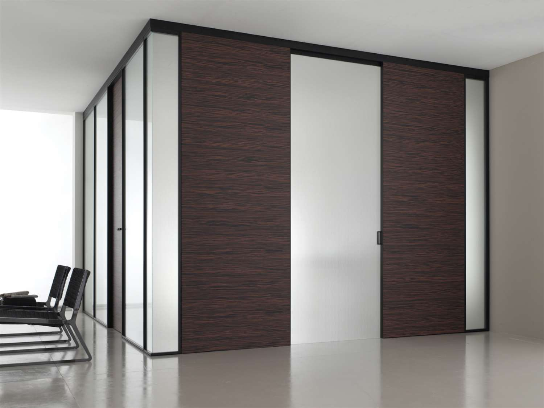 Mazzoli porte vetro porte modello mitika in alluminio - Parete vetrata esterna ...