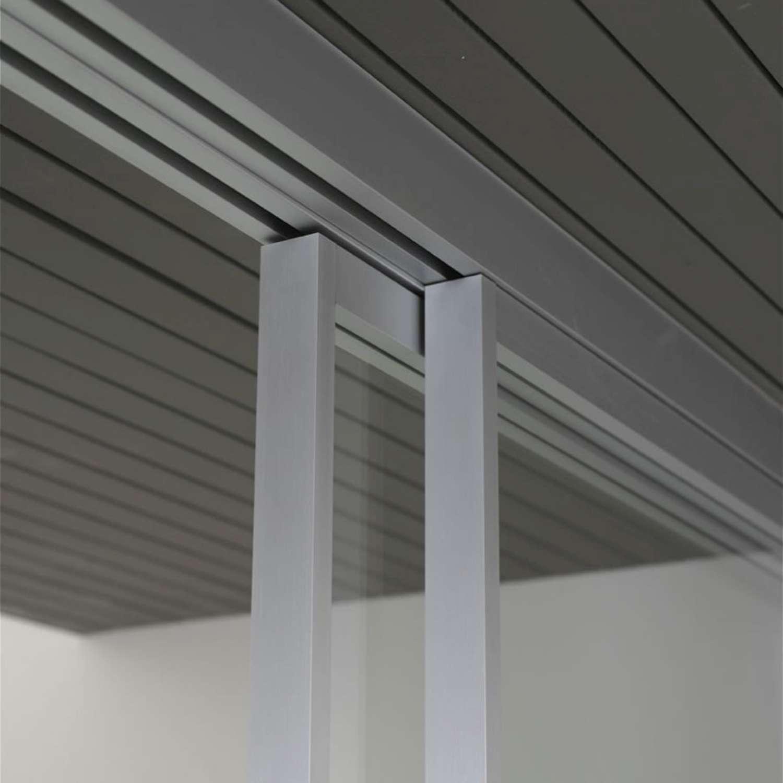 Mazzoli porte vetro porte modello mitika in alluminio vetro e legno personalizzabile - Porte scorrevoli con binario ...