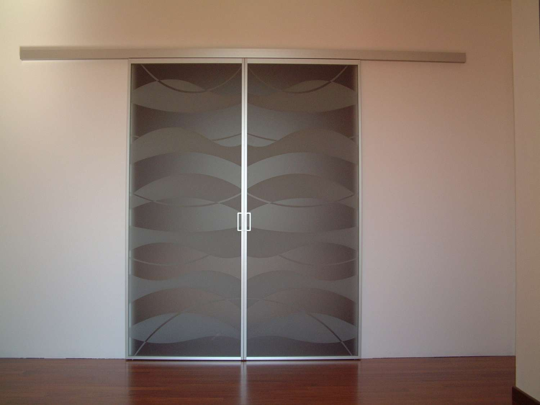 Mazzoli Glastüren   DOORS MODEL MITIKA ALUMINIUM Glas und Holz CUSTOM