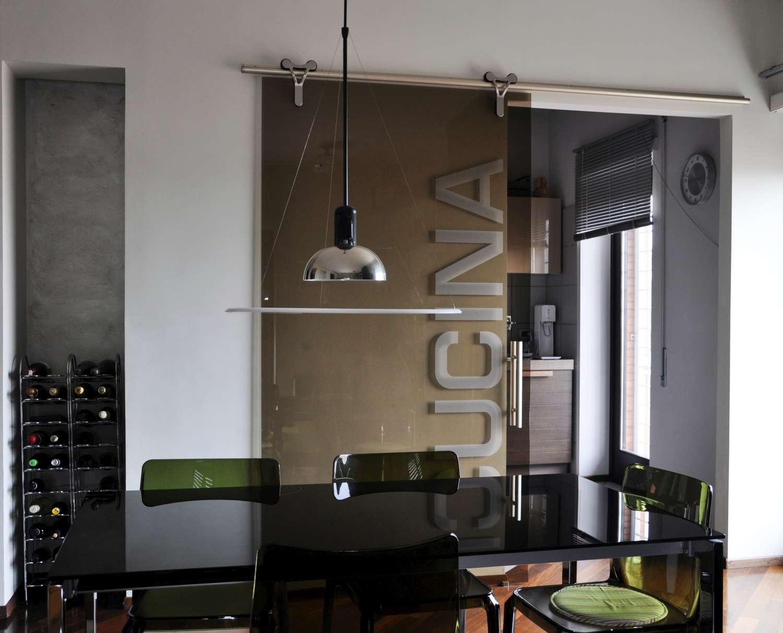 Mazzoli porte vetro porte cristallo logika scorrevoli for Porte scorrevoli per cucina