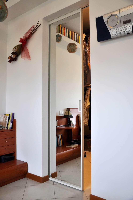 Porte Filo Muro Specchio mazzoli porte vetro | porte modello mitika in alluminio