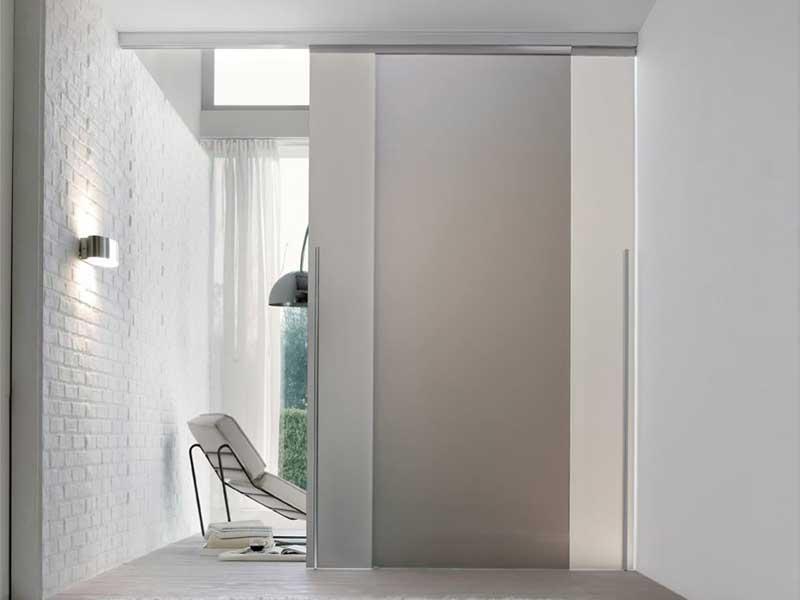 Mazzoli porte vetro porte vetro scorrevoli light qualita for Porte scorrevoli esterno muro prezzi
