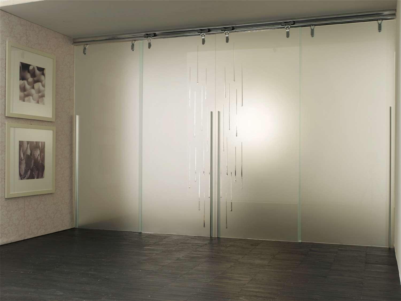 Parete In Vetro Scorrevole : Mazzoli porte vetro cristallo logika scorrevoli